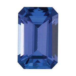 Natural Tanzanite Emerald Cut