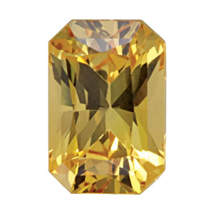 Natural Emerald Radiant Cut Loose Yellow Sapphire