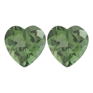 Natural Heart Loose Green Tourmaline