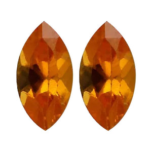 Orange Garnet Marquise Cut