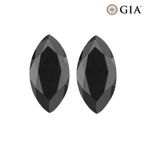 Treated Fancy Black Diamond Marquise Cut
