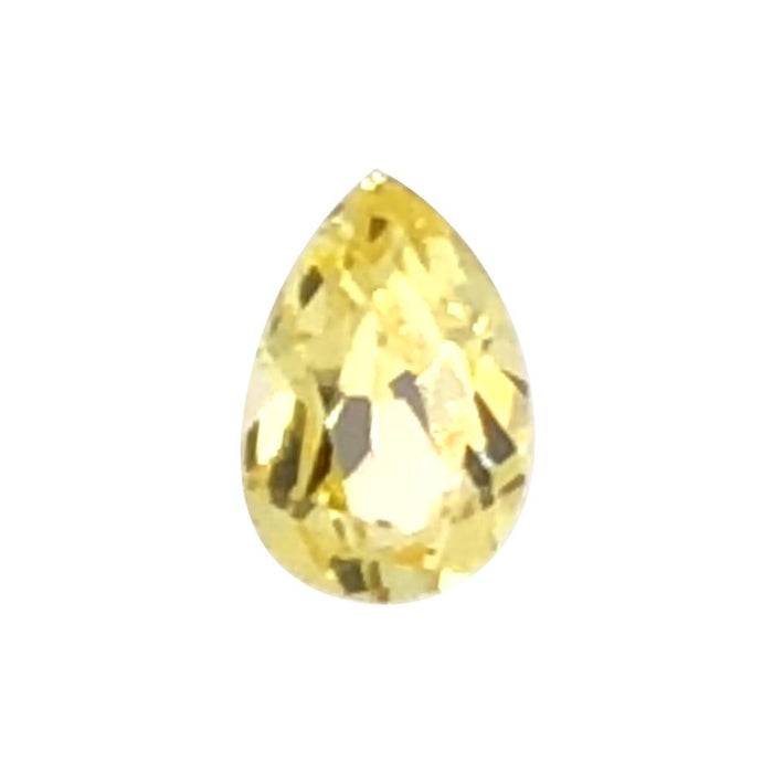 Synthetic Yellow Sapphire Pear Cut