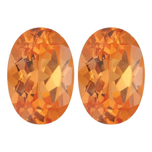 Orange Garnet Oval Cut