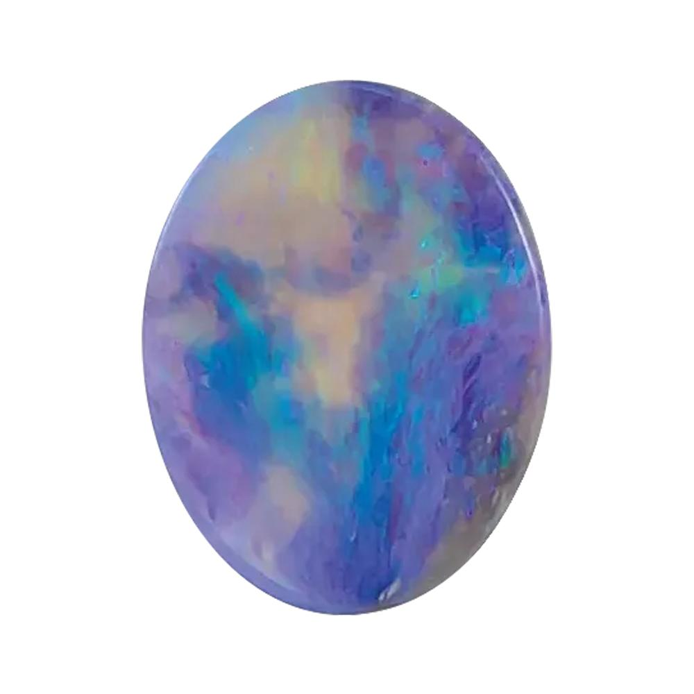 Natural Oval Cabochon Black Australian Opal