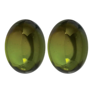 Natural Oval Cabochon Loose Green Tourmaline