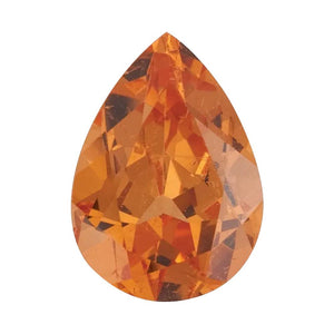 Orange Garnet Pear Cut