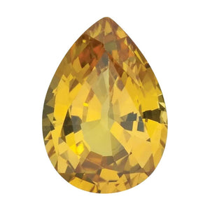 Natural Pear Loose Yellow Sapphire
