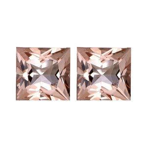 Natural Morganite Princess Cut