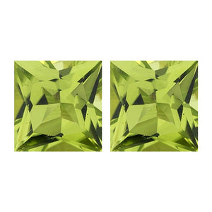 Natural Princess Shape Loose Peridot