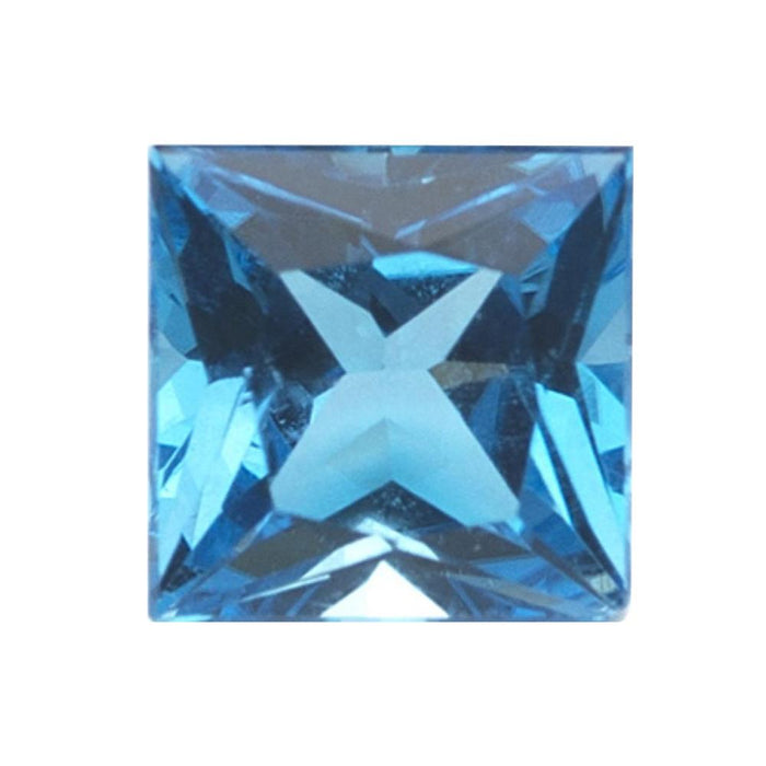Swiss Blue Topaz Princess Cut