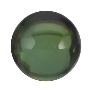 Natural Round Cabochon Loose Green Tourmaline