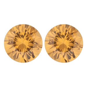 Natural Round Diamond Cut Loose Yellow Sapphire