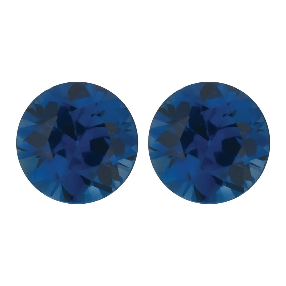 Natural Round Diamond Cut Loose Blue Sapphire - Smaller Size