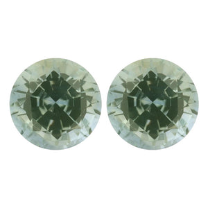 Natural Round Diamond Cut Loose Green Sapphire