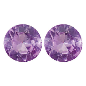 Natural Round Diamond Cut Loose Purple Sapphire