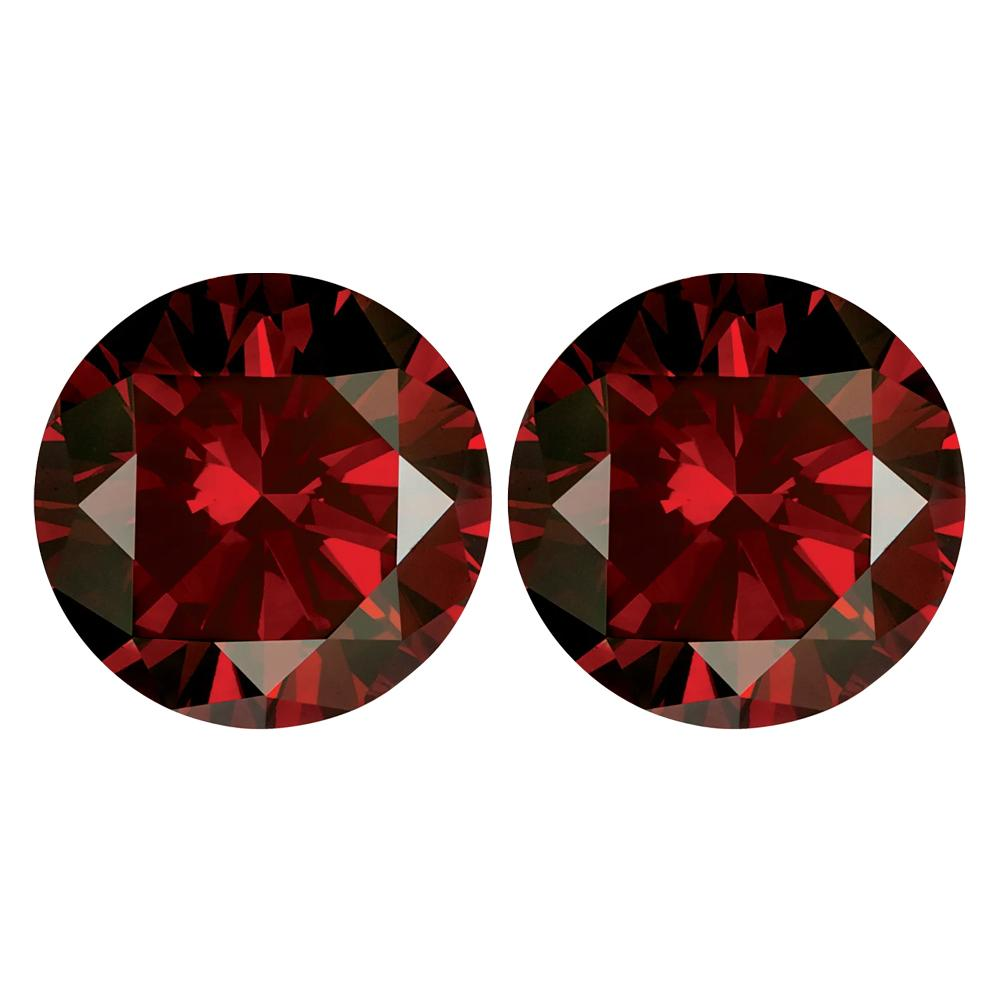 Treated Round SI Quality Loose Garnet Red Diamond