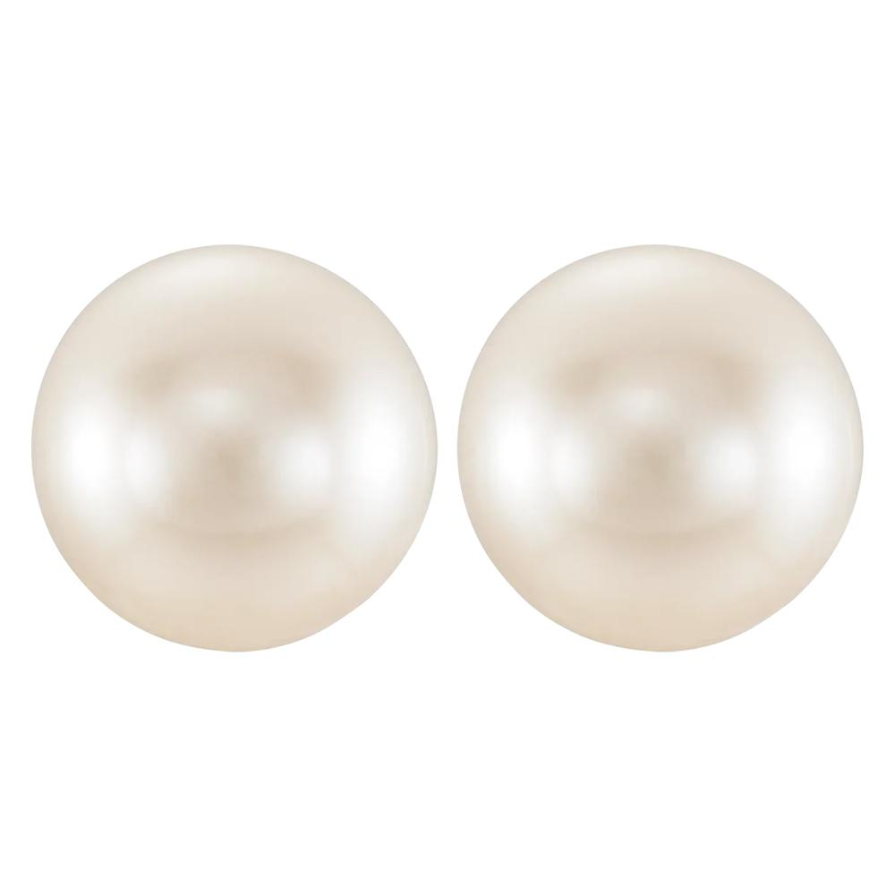 Round Undrilled White Freshwater Cultured Pearl