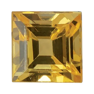 Natural Square Step Cut Loose Yellow Sapphire
