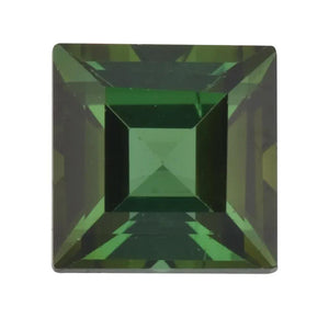 Natural Square Step Cut Loose Green Tourmaline