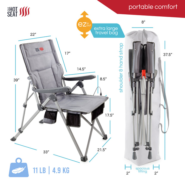 The Hot Seat, Heated Portable Camping Chair