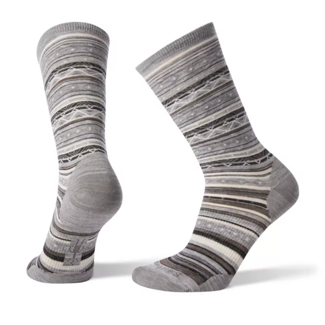 Smartwool Ethno Graphic Crew Light Grey