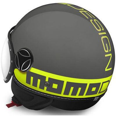 MOMO Fighter Fluo Gloss Grey Yellow