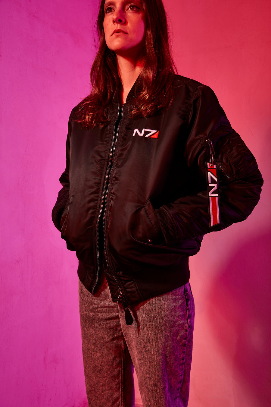 Mass Effect N7 Deluxe Bomber Jacket Women