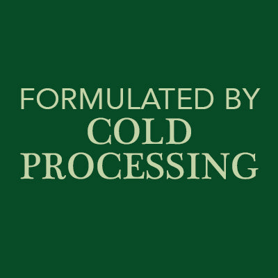 Formulated by cold processing