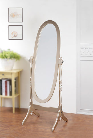 Traditional Queen Anna Style Wood Floor Cheval Mirror, Gold Finish