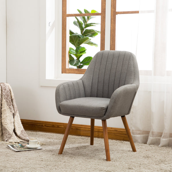 Tuchico Contemporary Fabric Dining Chair, Gray