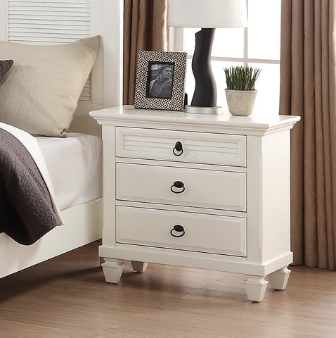 Regitina 016 White Bedroom Nightstand