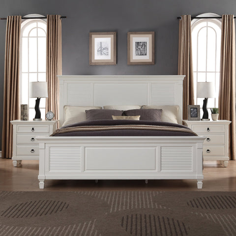 Regitina 016 White QUEEN & KING Size Bed
