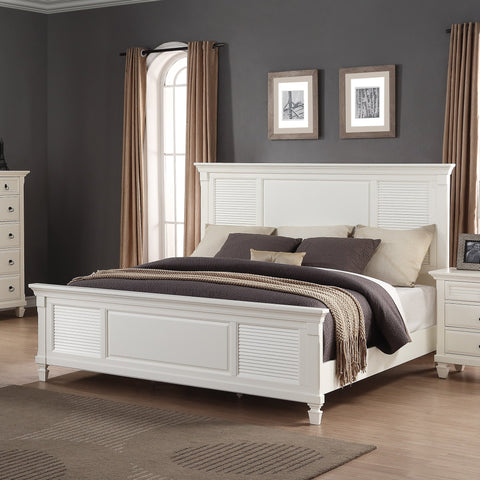Regitina 016 White Queen Size Bed