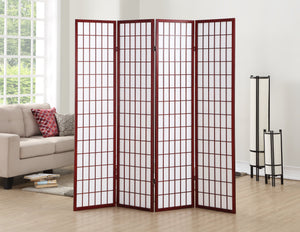 4 Panel Cherry Oriental Shoji Screen / Room Divider