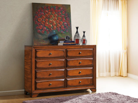 Oakland 139 Antique Oak Finish Wood 6 Drawers Dresser