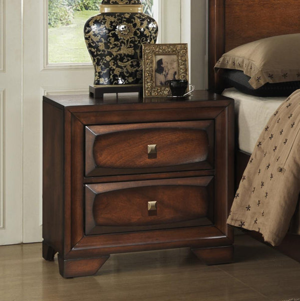 Oakland 139 Antique Oak Finish Wood Bed Room Set, QUEEN & KING Storage Bed, Dresser, Mirror, 2 Night Stands, Chest