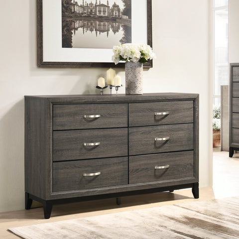 Stout Metal Bar Pulls Distressed Dresser
