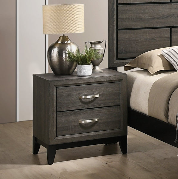 Stout Metal Bar Pulls Distressed Nightstand