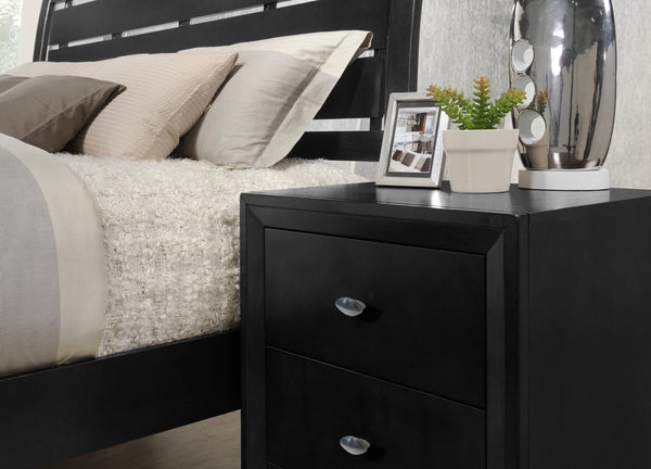 Ecrille 350 Black Wood Night Stand