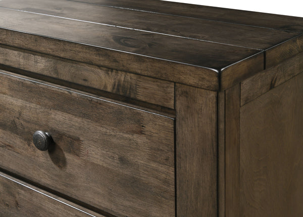 Pavita Weathered Distressed Dresser and Mirror