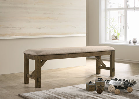 Raven Wood Fabric Upholstered Dining Bench