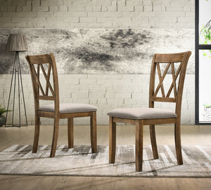 Windvale Fabric Upholstered Dining Chair Set of 2