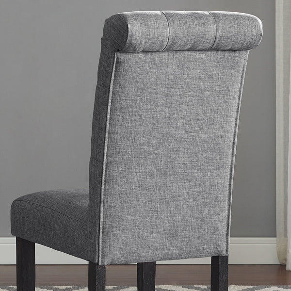 Leviton Solid Wood Tufted Asons Dining Chair (Set of 2), Grey