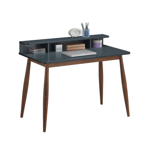Roskilde Gray Blue Storage Wood Office Desk