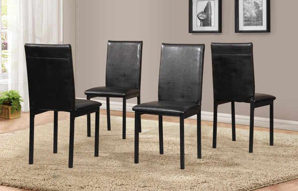 Citico 5-Piece Metal Dinette Set with Laminated Faux Marble Top, Black