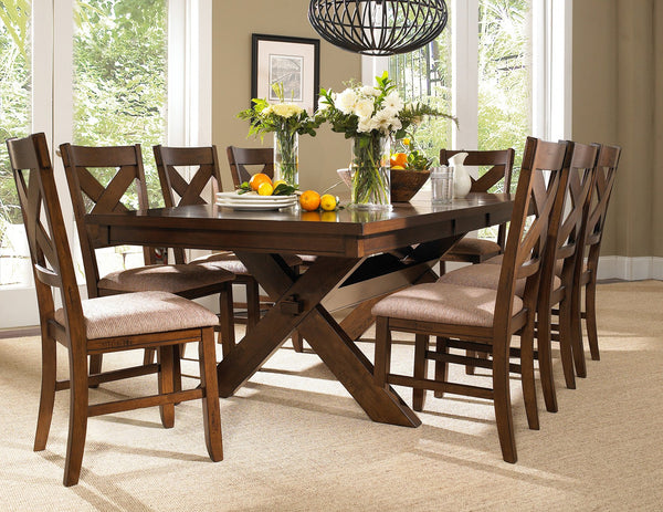 9-Piece Karven Solid Wood Dining Set with Table and 8 Chairs