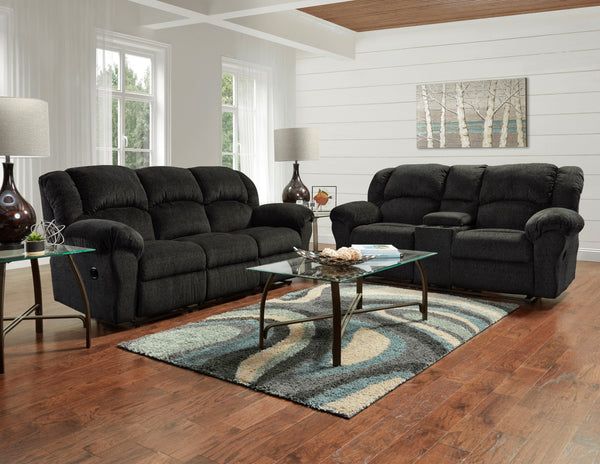 Dual Reclining Microfiber Sofa and Loveseat Set, Allure Grey