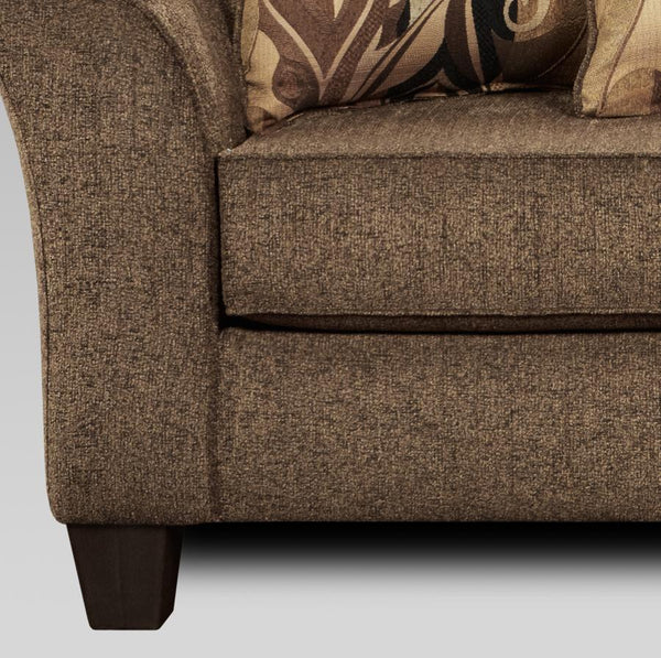 Camero Cafe Fabric Pillowback Sofa