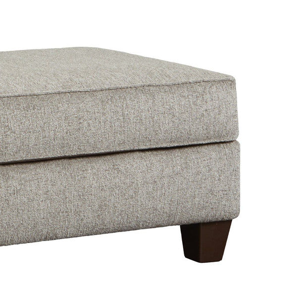 Camero Platinum Fabric Cocktail Ottoman