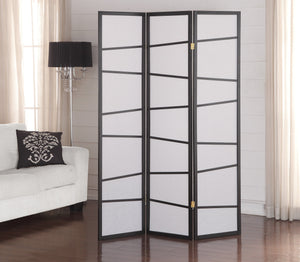 3-Panel Screen Room Divider - Black